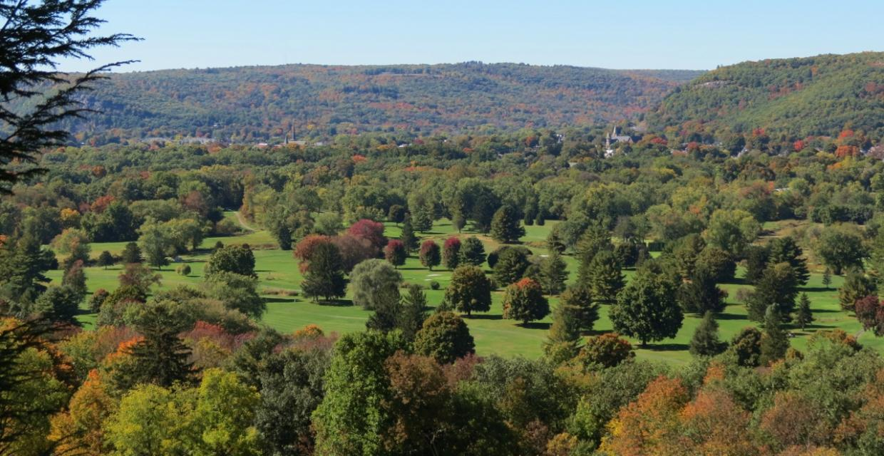 View toward Port Jervis at Huckleberry Ridge State Forest - Photo credit: Daniela Wagstaff