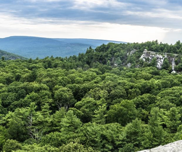 Minnewaska Skytop View Panorama. Photo by Steve Aaron.