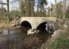 Stone arch bridge over Seely Brook in Goosepond Mountain State Park. Photo by Marty Costello.