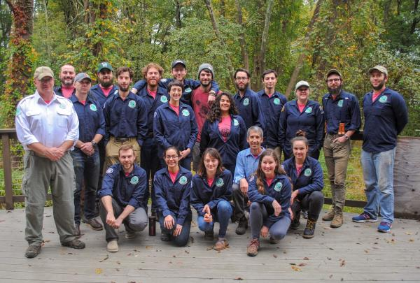 2018 Trail Conference Conservation Corps End of Season Portrait. Photo by Heather Darley.