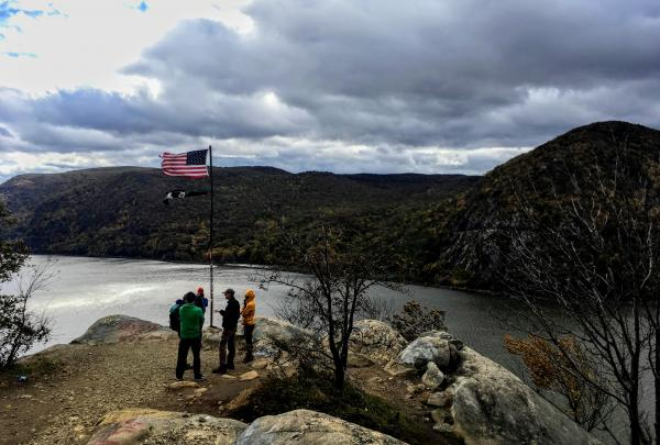The partners who manage Breakneck Ridge met on the mountain during Hot Spot Week in October 2018. Photo credit: Amber Ray