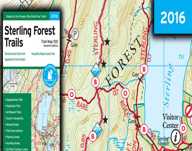 Sterling Forest Trails Map Sample